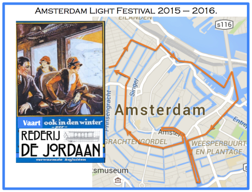 Amsterdam Light Festival route map